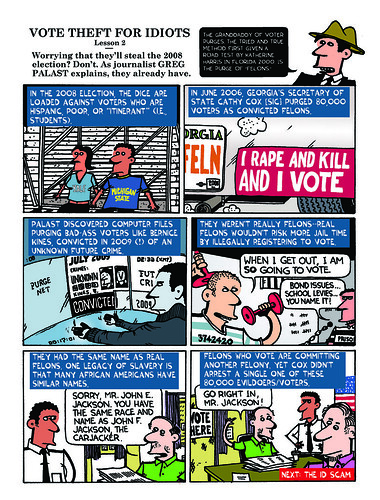 Voter Guide Page 8, Steal Back Your Vote! | by Greg Palast