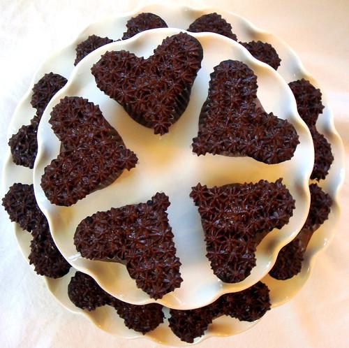 chocolate heart cupcake tiers