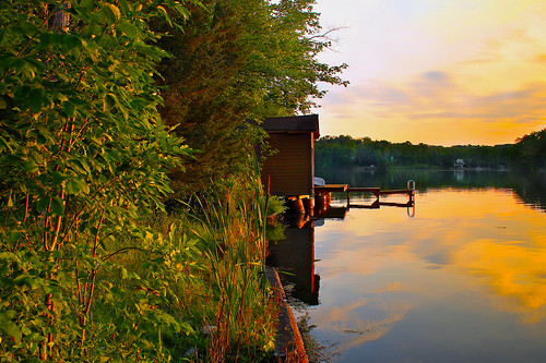 sunset summer lake newyork nature gold pond monroe lakeshore boathouse roundpond roundlake