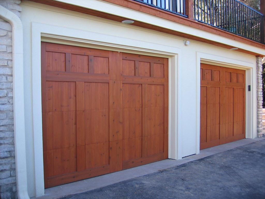 Custom Cedar Garage Doors Custom Stained Cedar Garage Door Flickr