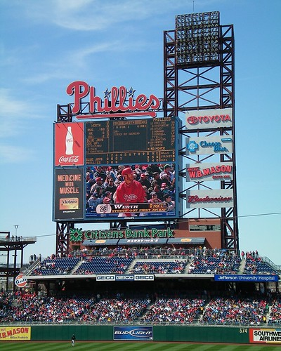 Left Field Jumbotron at Citizens Bank Park | by pvsbond