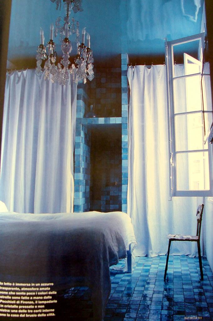 camera da letto blu | Blue Bedroom, Paola Navone\'s Paris Hom ...