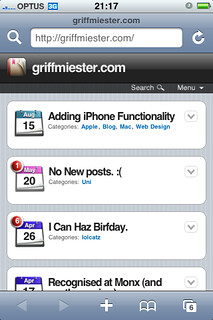 iPhone Blog Screen Shot - 1 | by griffmiester