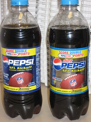 """Limited Edition Pepsi and Diet Pepsi NFL Kickoff with a """"kick"""" of Lemon"""