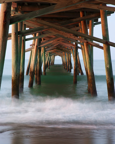 ocean longexposure sunrise pier northcarolina atlanticbeach fujis5