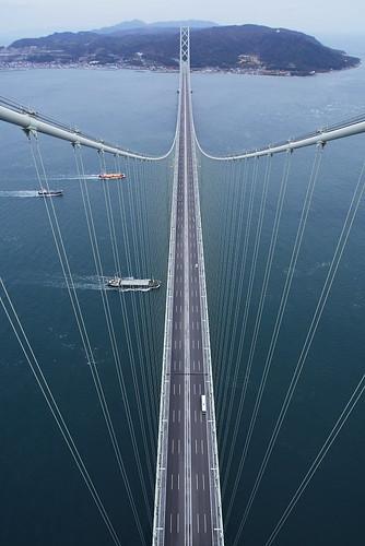 bridge japan landscape kobe