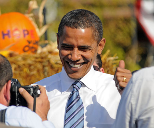 Final pre-election visit by Barack Obama to Iowa.