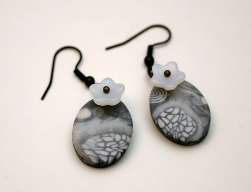 Polymer Clay Earrings UNDER THE ICE | by X by Leina Neima