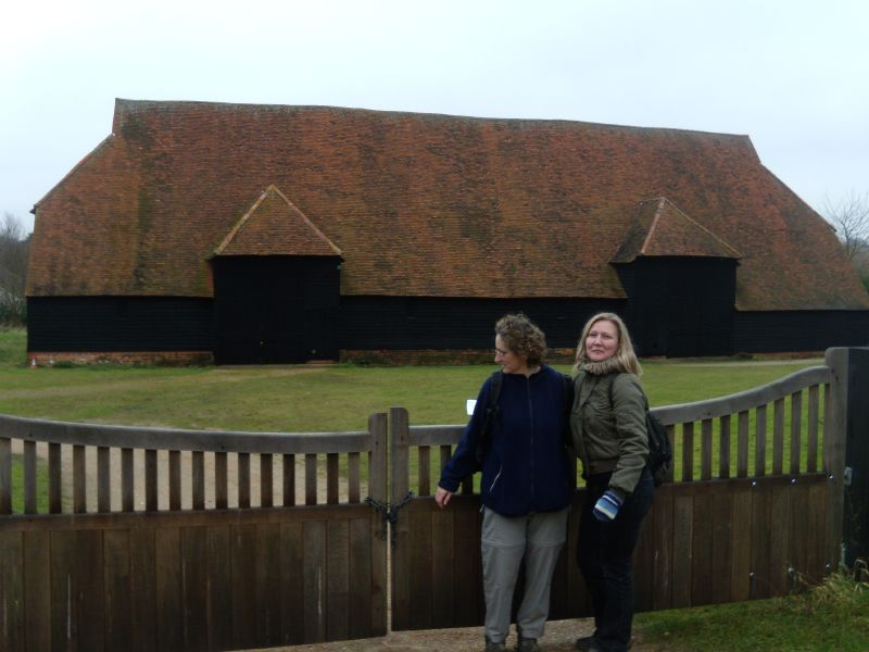 Nice view of the oldest barn in Europe Who are those people? Kelvedon circular