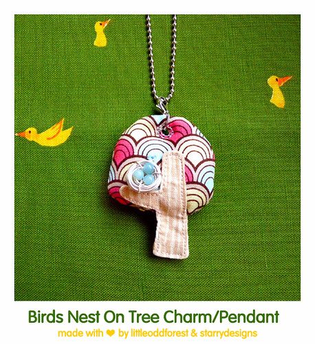 Birds Nest On Tree Charm/Pendant | by my little odd forest