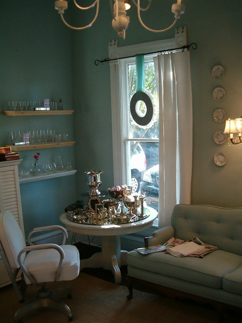 The blue room at The Vintage Laundry