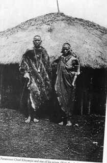 Paramount Chief Kinyanjui and one of his wives | by Southern Kikuyu before 1903