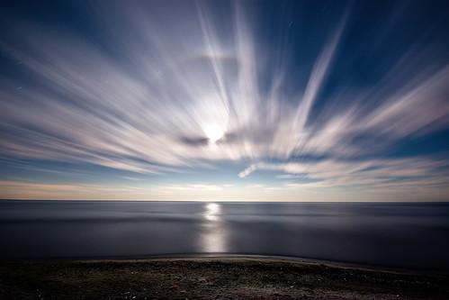 longexposure nightphotography moon ontario beach clouds lakeerie greatlakes fullmoon nightshots startrails sigma1020mm rondeauprovincialpark southwestontario bobwest k10d