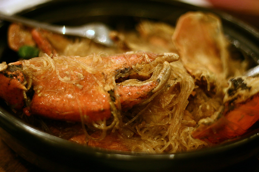 ban pho with steamed crabs | So what happens when ban pho is… | Flickr