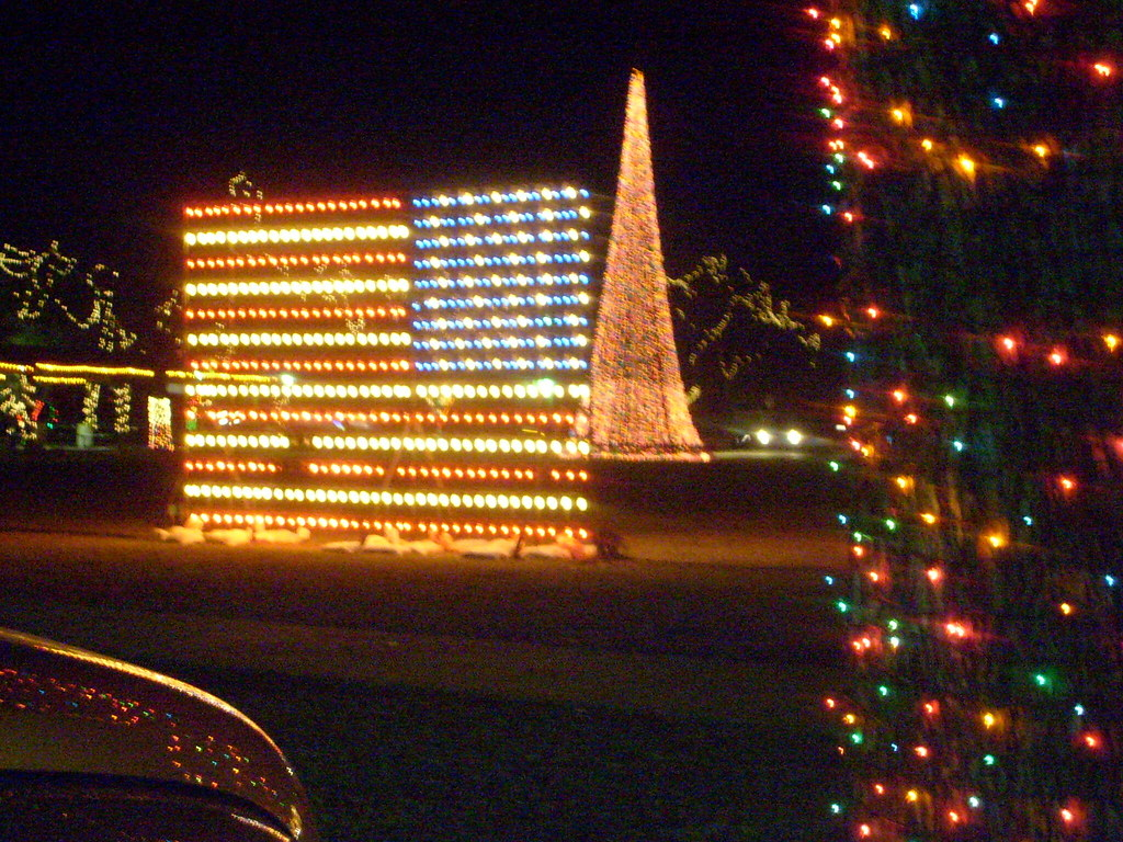 Patriotic Christmas Lights.Patriotic Christmas Lights In Cleburne The Whistle Stop C