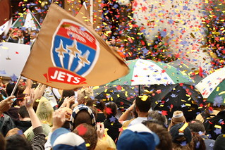 Newcastle Jets' Reception: The Confetti is Shot Off! | by pj_in_oz