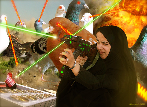 The Hijabi Heroines take on the Intergalactic dOve Invaders