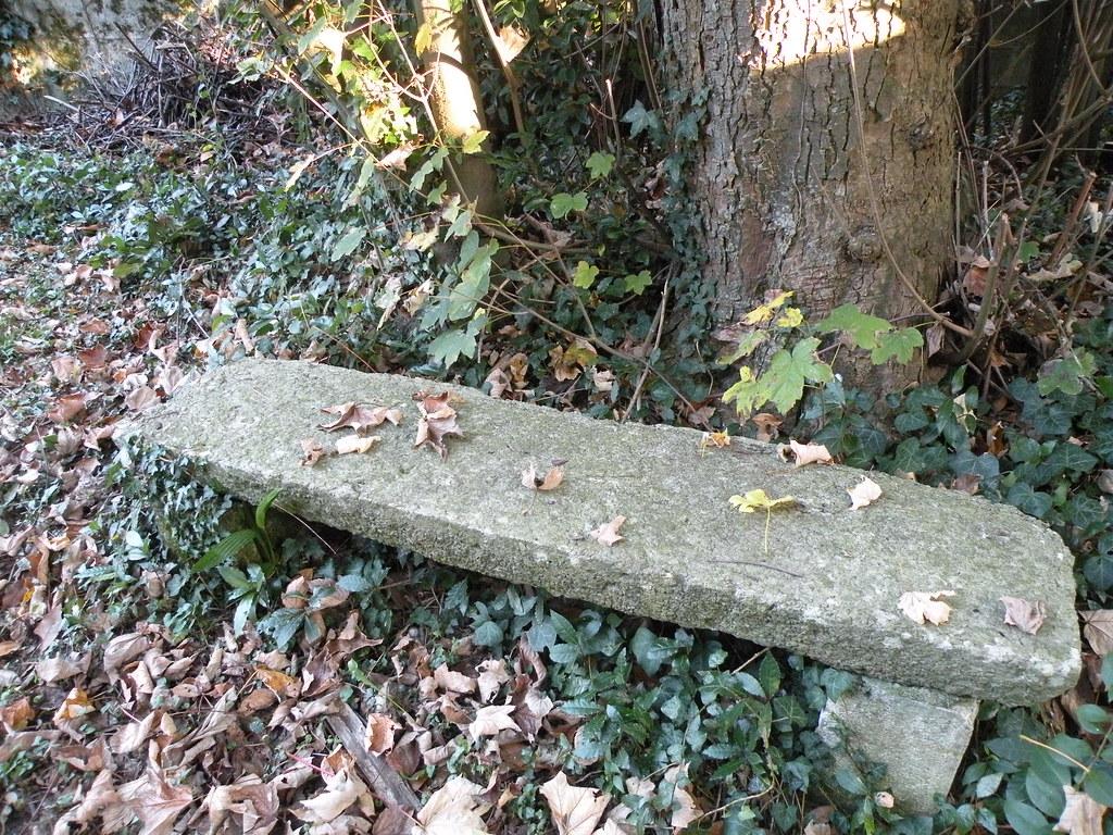 Vieux Banc De Jardin automne au jardin le 19 octobre: le vieux banc de pierre a