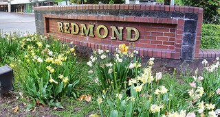 City of Redmond WA | City sign at the intersection of Clevel