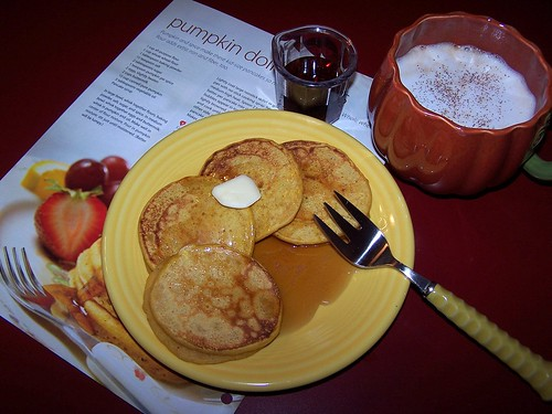 Pumpkin Pancakes and coffee
