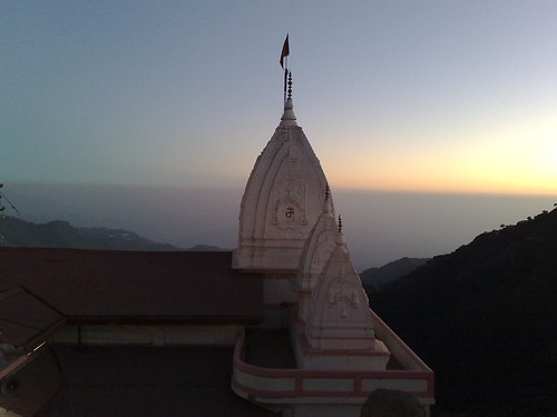 sunset india temple dusk mussoorie