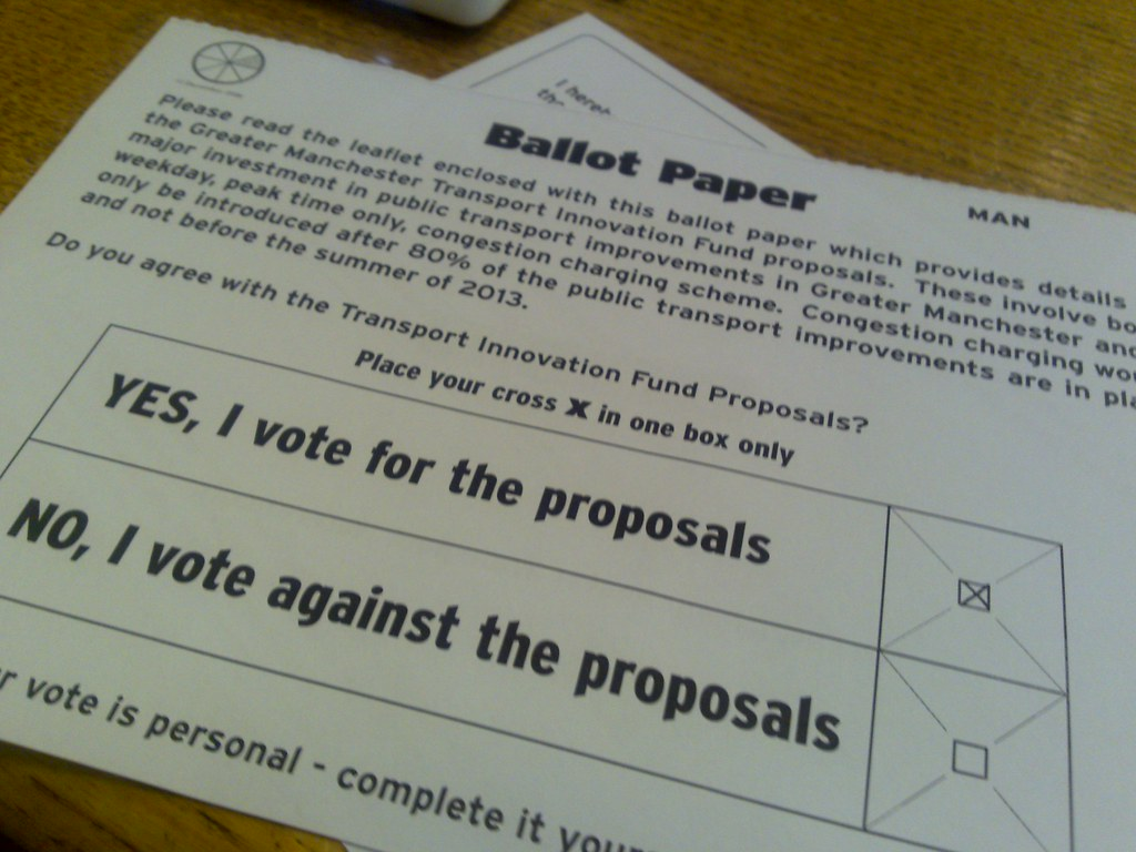 Ballot paper for the Manchester TIF referendum | Frankie Roberto ...