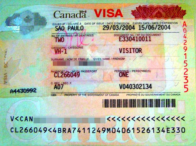 Canada: visa   Issued at the Consulate-General of Canada in