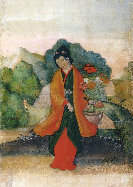 「西洋風俗屏風(西洋風俗図)(部分)」(江戸時代初期)