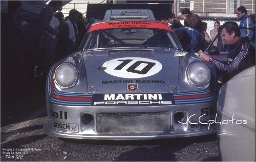 Essais Le Mans 1974 Porsche 911 Martini Carrera RSR Turbo