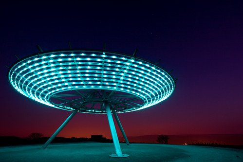 blue light red sculpture art night glow nocturnal hill sigma halo wideangle lancashire nighttime windswept leds publicart 1020mm hilltop panopticon rossendale sigma1020mm 10mm haslingden landlab