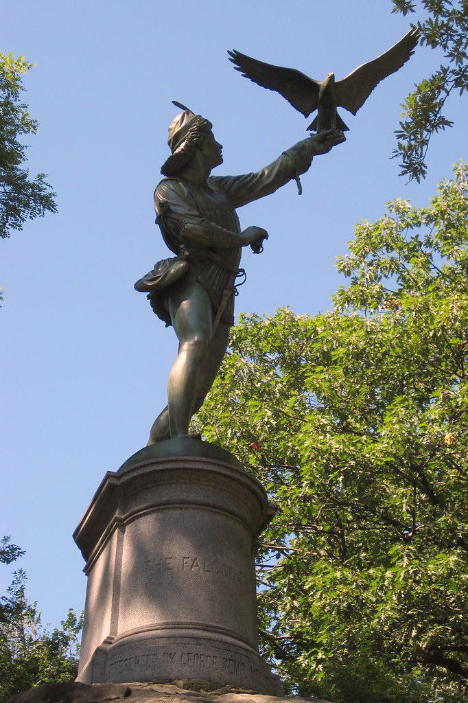 NYC - Central Park: The Falconer Statue