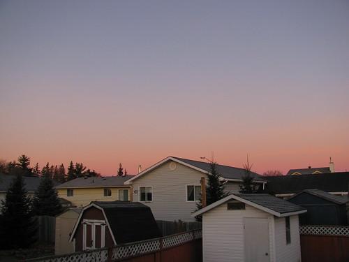 sunrise backyard