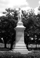 Remove it!  Dick Dowling Statue, Hermann Park, Houston, Texas 0429101141BW | by Patrick Feller