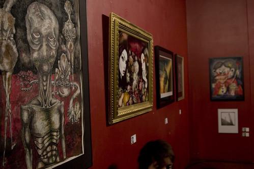 Artwork of Talissa Mehringer, John Kolbek, Cam de Leon, Carrie Ann Baade, Natalie Koksis and (below) Louis Guidone