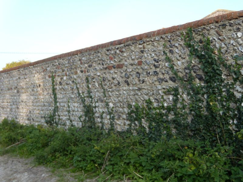Flint wall Lewes to Southease via West Firle