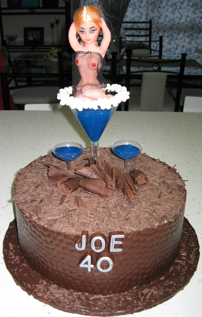 Superb Joes 40Th Birthday Naughty Cake My Work Friend Turned 40 Flickr Funny Birthday Cards Online Hendilapandamsfinfo