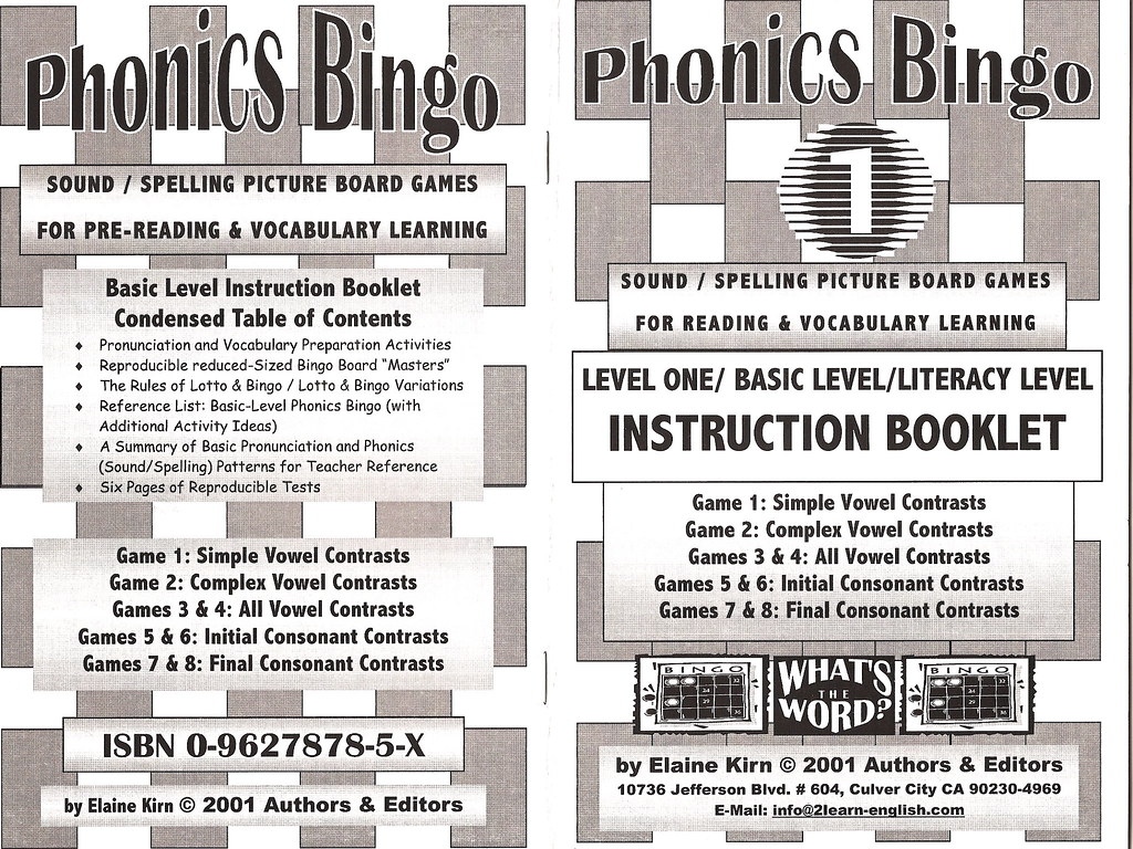 English Phonics Bingo Game - Vocabulary, Reading, Spelling… | Flickr