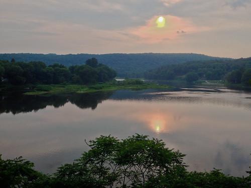 sunset sky sun water reflections river evening delawareriver odc asplashofcolor iphone5