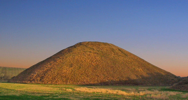 The end of another day but Silbury Hill lives on forever
