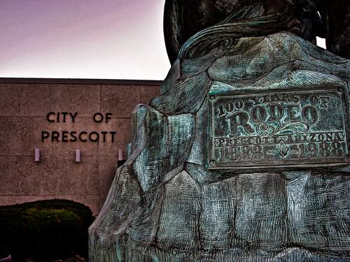 arizona statue bronze sunrise cowboy downtown az rodeo prescott picoftheday cityofprescott