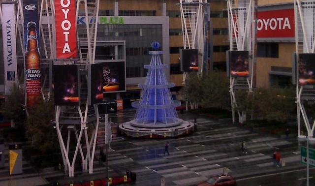 X-mas tree at LA Live