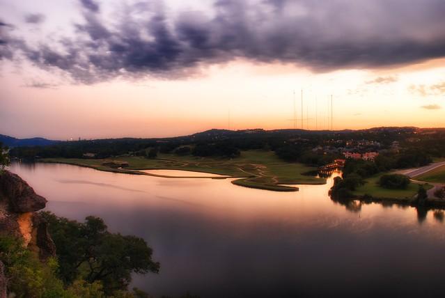 Quiet sunset on Lake Austin