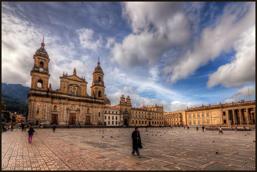 Bogota Colombia The Plaza De Bolivar Is The Main Square