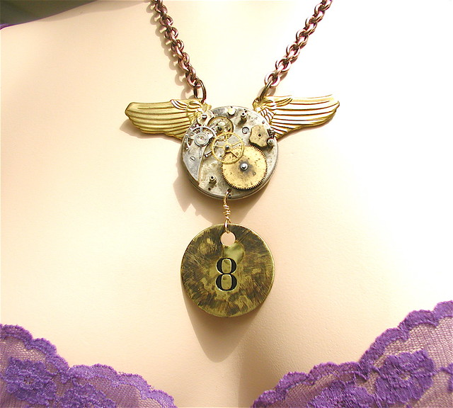 Chronos 8 Steampunk Necklace This Piece Started With