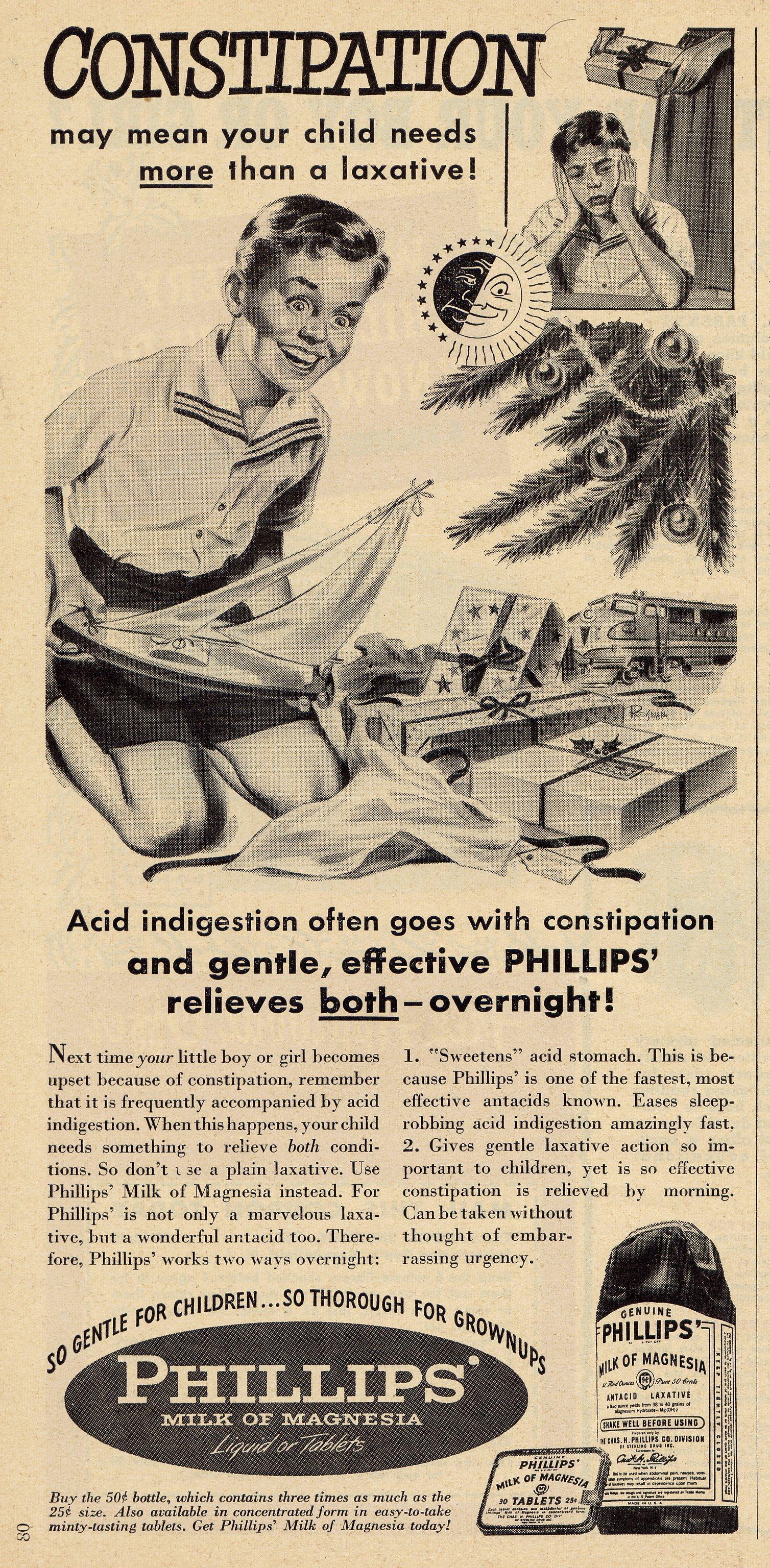 Phillips' Milk of Magnesia - December 1949