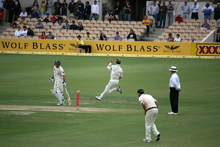 Flying - Brett Lee, Adelaide _2681 | by Rikx