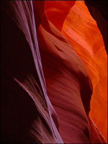 light shadow red arizona usa rock america sandstone desert tripod canyon panasonic page geology navajo sedimentary reservation fz30 slotcanyon navajonation upperantelopecanyon flickrsbest