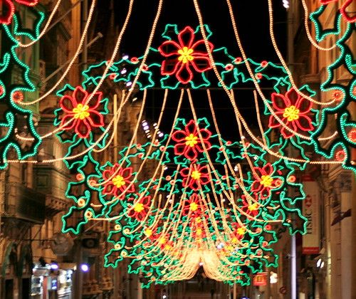 Merry Christmas; Street lights, Republic Steet, Valetta | by foxypar4