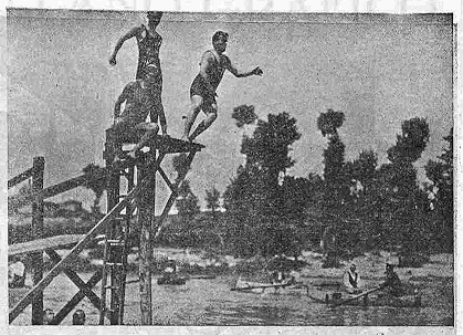 Bañistas en el Tajo, en julio de 1924. Foto Carmona