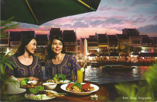 Singapore Airlines Ad Postcard